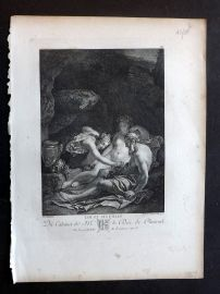 After Adriaen van der Werff C1820 Antique Print. Nudes